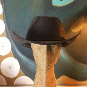 NWT Stiff Brim Brown Cowboy Hat Small Large